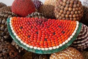 Artesanías hechas con semillas